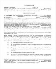 commercial lease templates commercial rental agreement 11 free word pdf documents