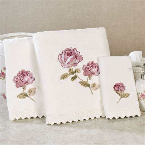 floral towels for the bathroom rosalie embroidered floral bath towel set by piper wright