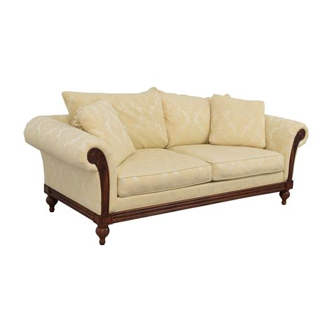 ethan allen wood frame sofa 90 ethan allen ethan allen ivory jacquard sofa with
