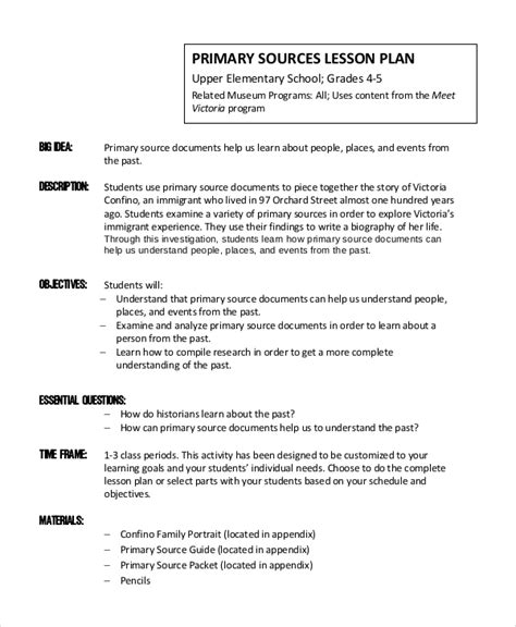 lesson plan template primary primary lesson plan template templates station