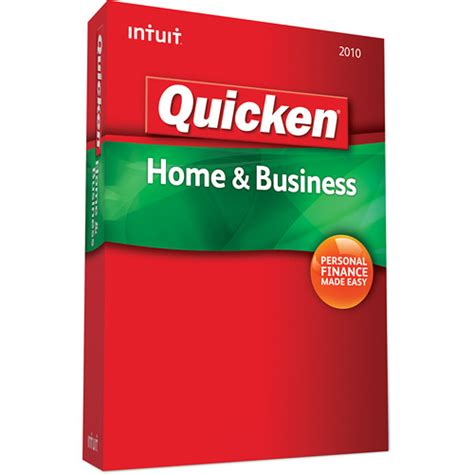 intuit quicken home business 2010 software 409942 b h