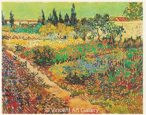 flowering garden flowering garden with path by vincent gogh