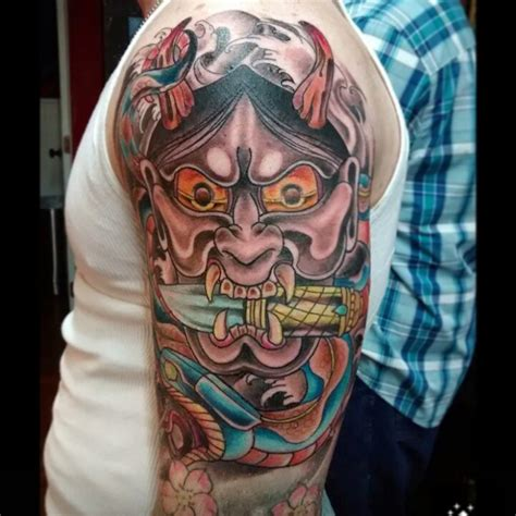 traditional japanese oni tattoos www pixshark com