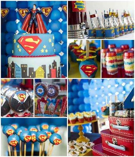 Superman Decorations by Kara S Ideas Superman Birthday Planning Ideas