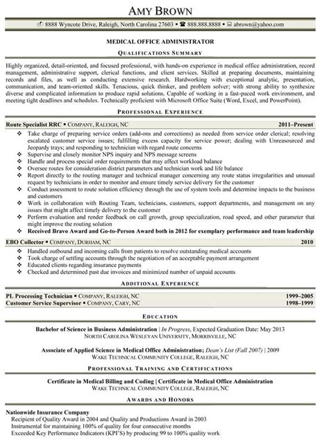 Office Administration Resume Exles by Administrative Resume Exles Resume Professional Writers