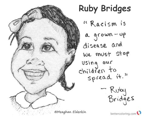 coloring page for ruby bridges ruby bridges coloring page by meaghan elderkin free