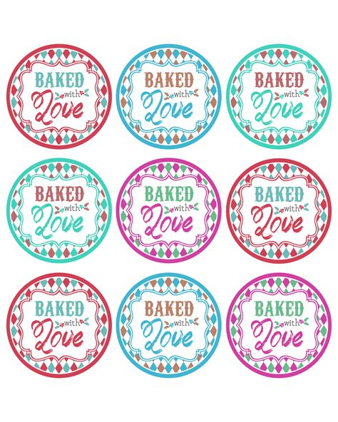 free printable gift tags for baked goods baked goods free printable gift tags for baked goods
