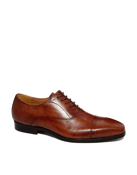 leather oxford shoes lyst aldo mesnier leather oxford shoes in brown for