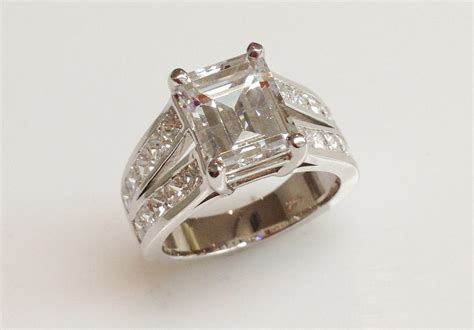 square emerald cut engagement ring keezing kreations
