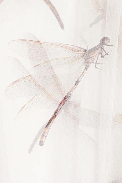 Dragonfly Print Blouse mcqueen dragonfly print silk chiffon blouse