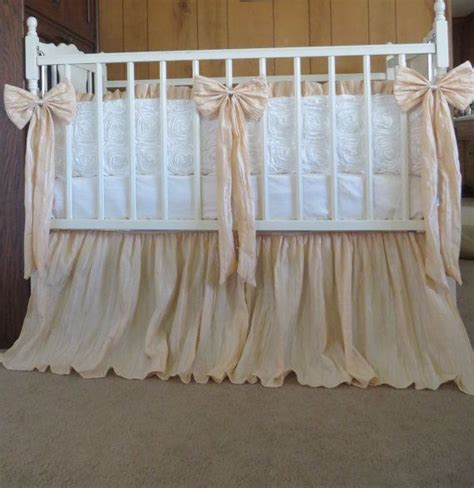 Vintage Style Crib by Vintage Inspired Crib Bedding In Ivory And Crinkled