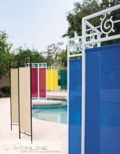fabric patio garden privacy screen divider portable