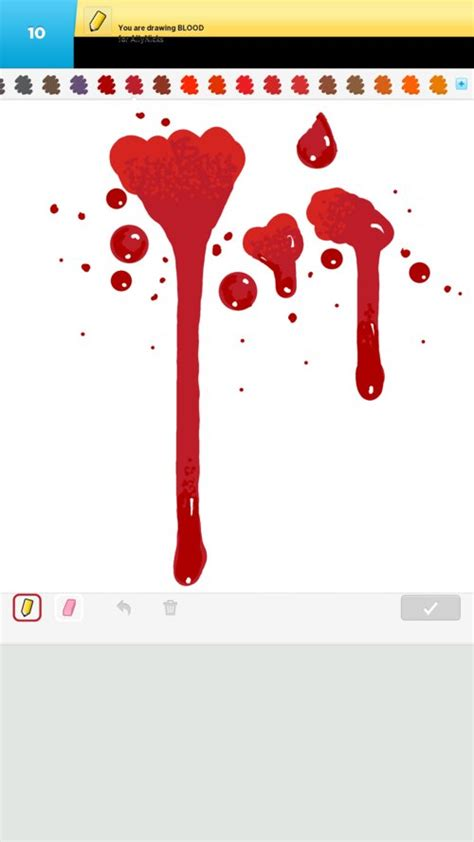 blood drawings how to draw blood in draw something the