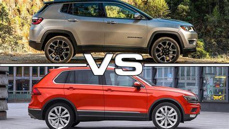 volkswagen jeep tiguan 2017 jeep compass vs 2017 volkswagen tiguan youtube