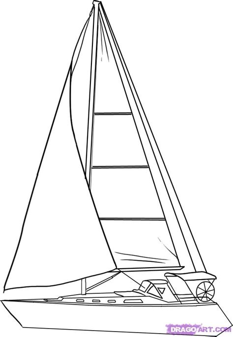 how to draw a boat with sails how to draw a sailboat step by step boats