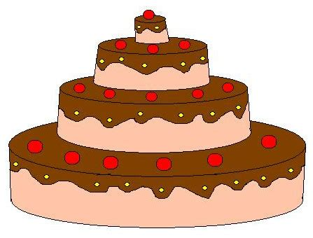 torta clipart clipart torta a 4 piani 4you gratis