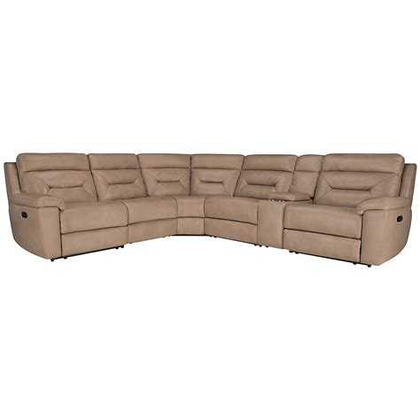 Microfiber Reclining Sectional City Furniture Dk Beige Microfiber Small Two Arm