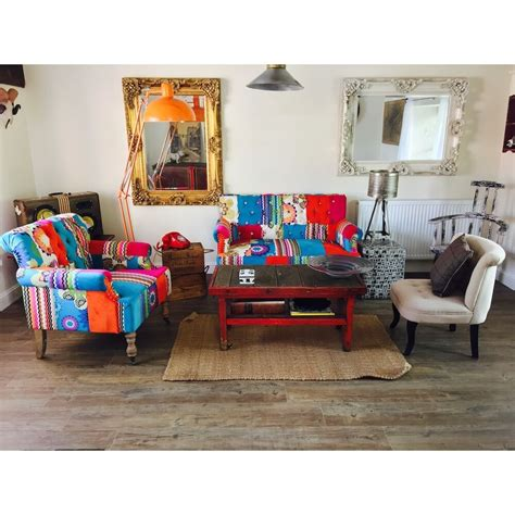 Small Patchwork Sofa Wood Wallpaper Bedroom