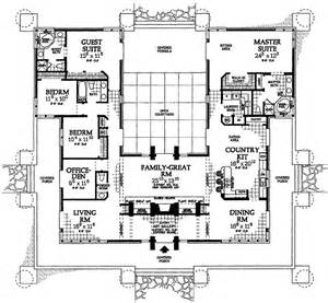 style house plans with courtyard classic prairie style house plan 81313w 1st floor