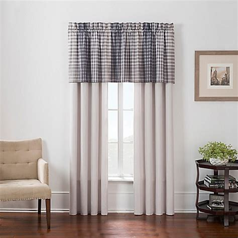 bed bath and beyond window treatments clarence window treatments in plaid bed bath beyond