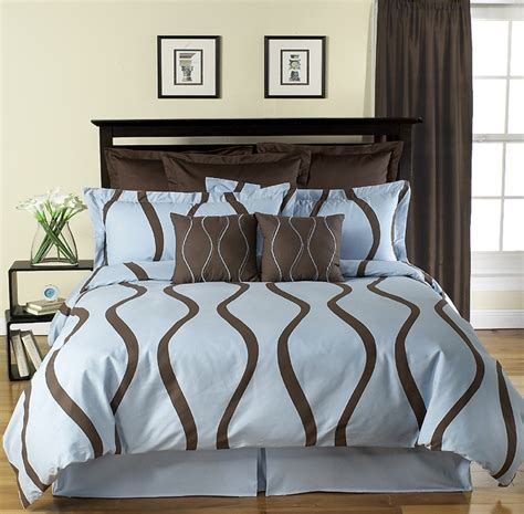 contemporary bedding sets new brown and blue modern king duvet cover bedding set ebay