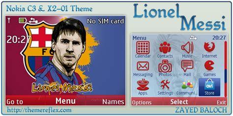 nokia x2 ronaldo themes lionel messi theme for noki c3 x2 01 themereflex