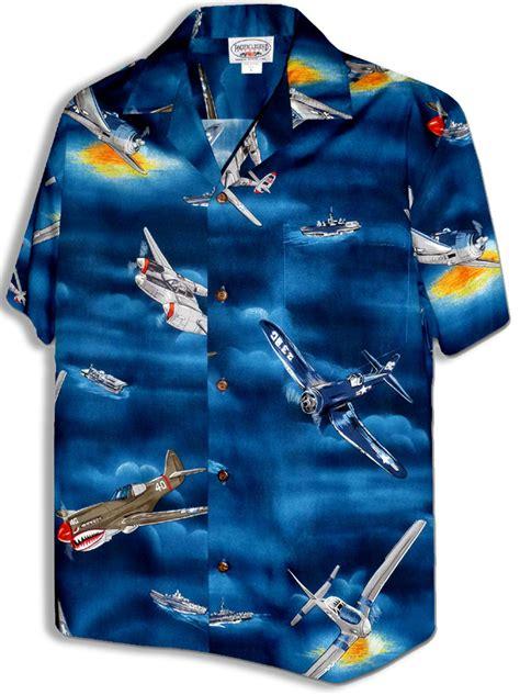 Pacific Legend World War II Airplanes Mens Poplin Cotton
