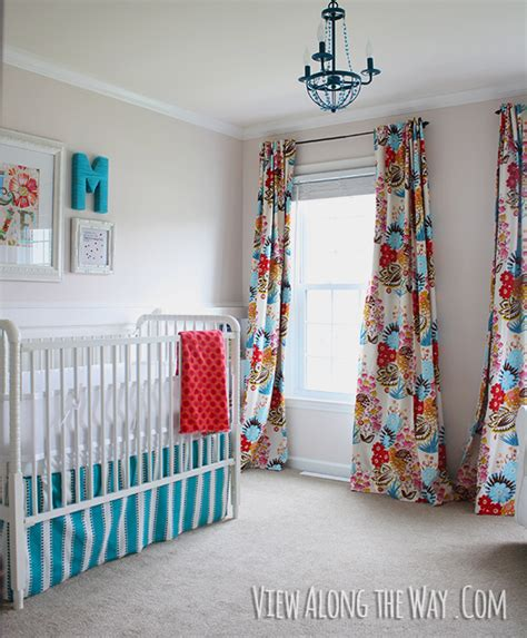 Nursery Curtain Panels Quality Sewing Tutorials Lined Tabbed Curtains Tutorial From View Along The Way