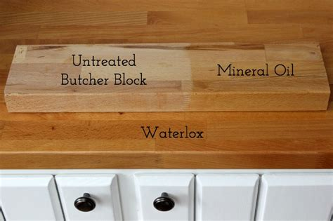 Finishing Butcher Block Countertops by Treating Butcher Block Countertops Waterlox Vs Mineral
