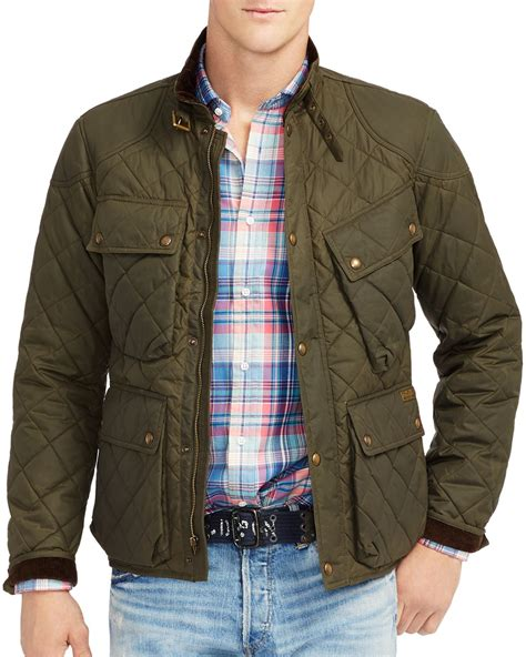 Polo Quilted Jacket Mens by Ralph Polo Quilted Bike Jacket In Green For