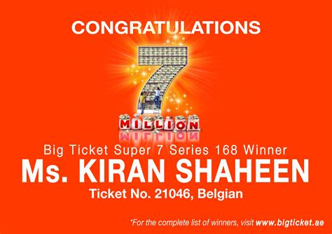 bid tickets big ticket abu dhabi on quot congrats ms kiran