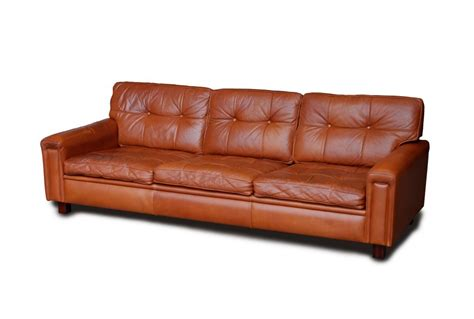 big leather couch large arne norell leather sofa great tan colour seating