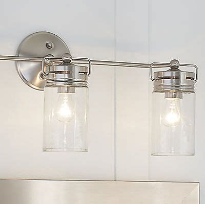 Bathroom Vanity 3 Light Fixture Brushed Nickel Jar Wall Jar Bathroom Light Fixture