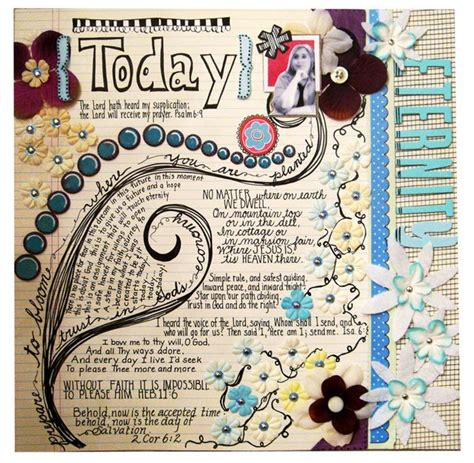 Art Journal Layout Music | neat scrapbook page journaling pinterest