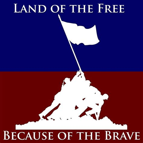 land of the free because of the brave america home of