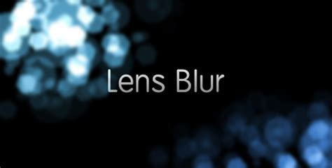 lens blur lens blur intro by creattive videohive