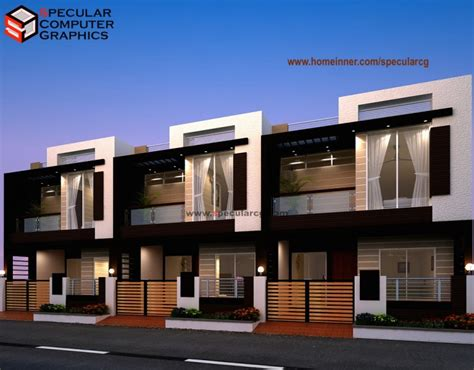 Home Layout Designer Row House Design By Specular Cg