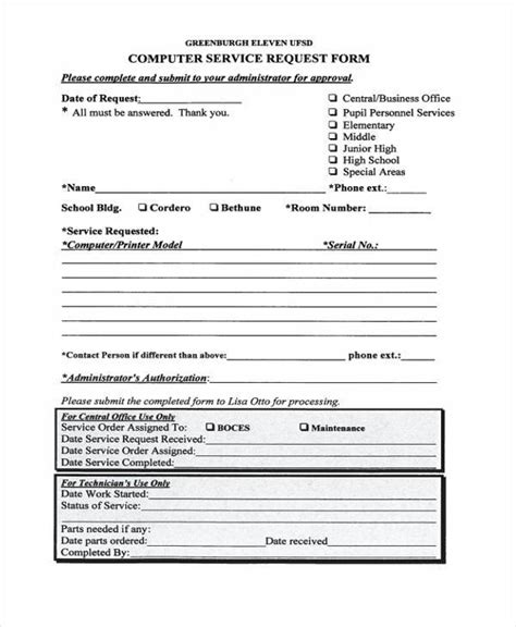 34 Service Forms In Pdf Laptop Request Form Template