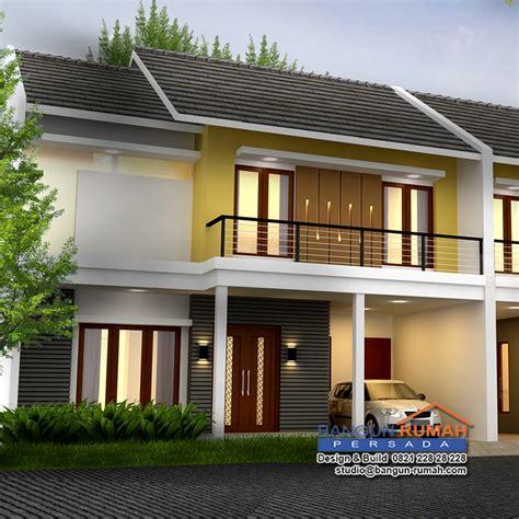 desain rumah minimalis lahan panjang desain rumah 2 lantai di lahan 10 65 x 10 m2 brp 10 02