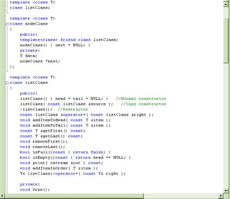 c class template c linked list class template by moosader on deviantart