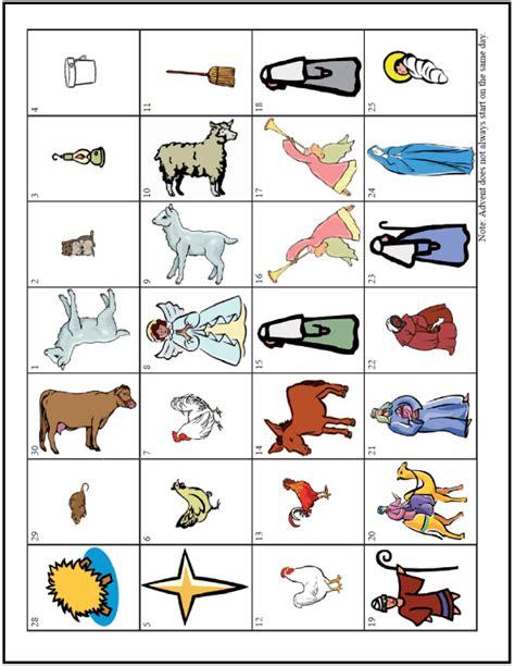 printable nativity scene advent calendar printable advent calendar people animals stable