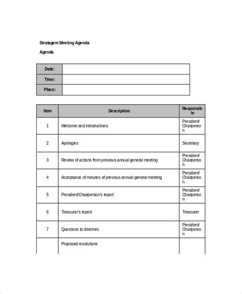 10 Client Meeting Agenda Templates Free Sle Exle Format Download Free Premium Client Meeting Report Template