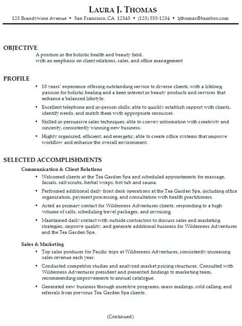 great resume examples resume for client relations and sales susan ireland resumes