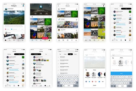 instagram the new ui icon and all the elements you want instagram based ui kit sketch resource for sketch image