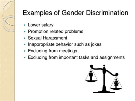 how to remove gender discrimination from organizations