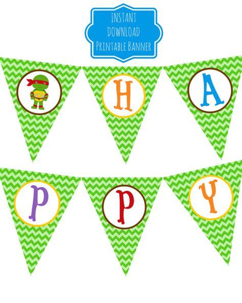 Printable Ninja Turtle Birthday Banner | 8 best images of ninja turtle birthday banner printable