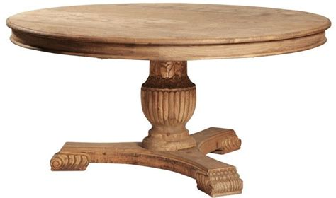 63 quot pedestal dining table solid reclaimed wood