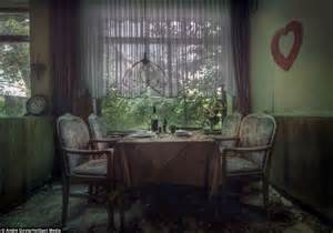Dining Room Table Set Beds Covered In Moss Rubble Strewn Floors Crumbling