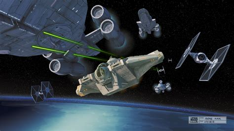 The Ghost Writer star wars rebels concept art ghost ship