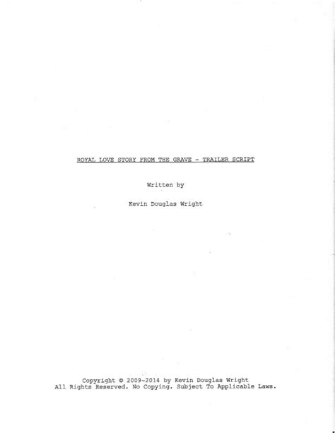 script title page template image gallery script title page